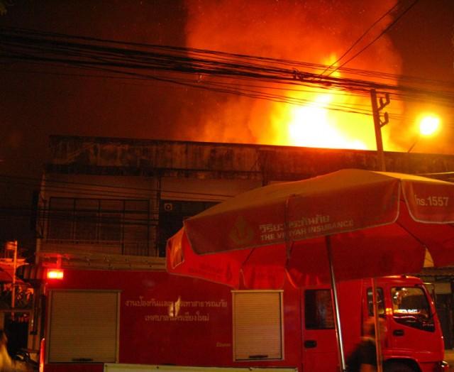 Пожар в центре Чианг-Мая
