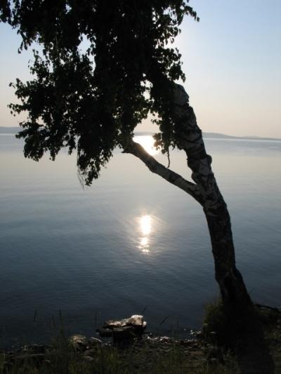 Озеро Синара вечером