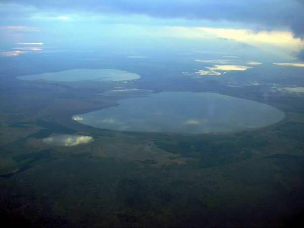 Уральские озера с самолета