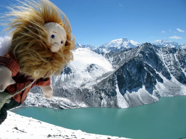 Над озером Ала-Кель, Тянь-Шань, Кыргызстан