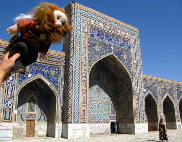 Над Регистаном, Самарканд, Узбекистан