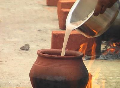 Вливание рисовой воды