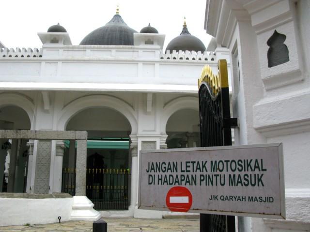 «На мотосикале в мечеть не въезжать!»