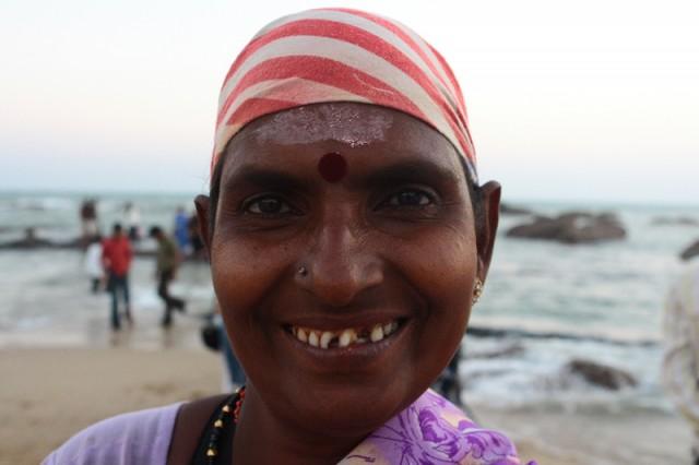 Настина подружка из Каньякумари. Лупила с нас рупии два вечера.