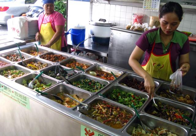 Вегетарианский буфет в Куала Лумпуре