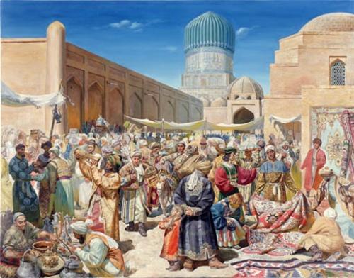 """""""Самаркандский базар"""",1996"""