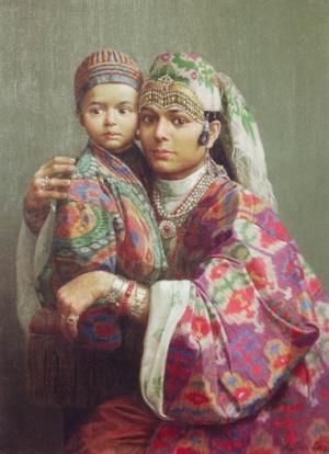 """""""Женщина с ребенком из Бухары"""",2001"""