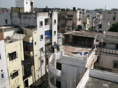Вид с крыши - раздолье для паркура