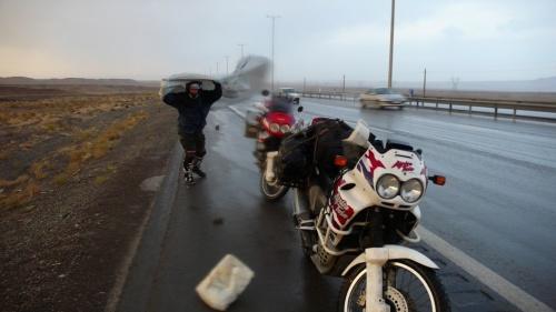 Буря по дороге