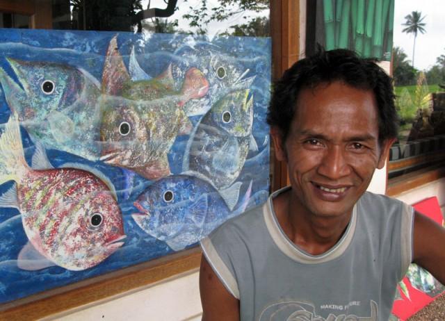 Балийский художник-земледелец