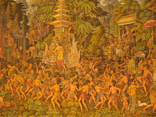 Балийская живопись. Церемония кремации