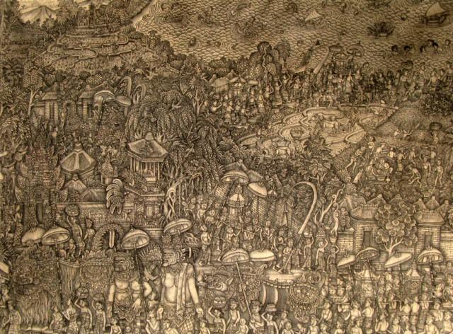 Балийская живопись. Вся жизнь на одном листе