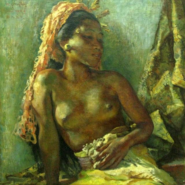 """""""Портрет мисс Кеньюнг"""", 1942, Уиллем Герард Хофкер (Нидерланды). Холст, масло."""