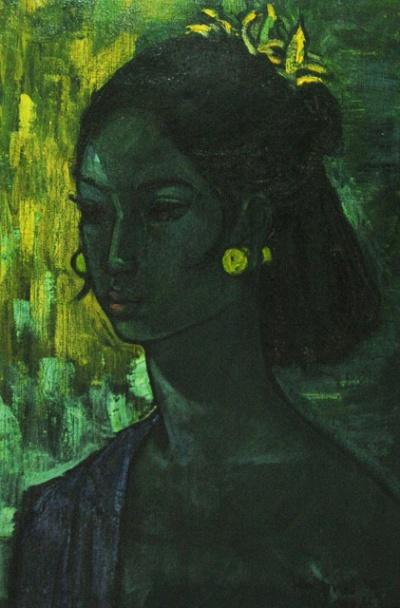 """""""Портрет Ситы"""", 1956, Хан Снел (Нидерланды). Холст, масло."""