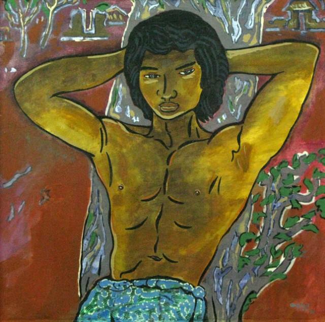 """Балийский юноша"", 1980, Эри Смит. Холст, масло."