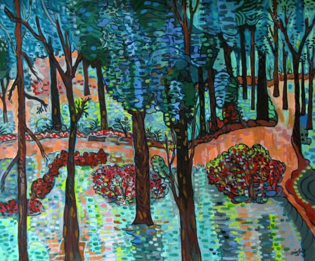 """Сад"", 1998, Эри Смит. Акрил, масло."