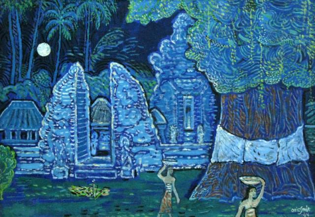 """""""Церемония в честь полнолуния"""", 1994, Эри Смит. Холст, масло."""