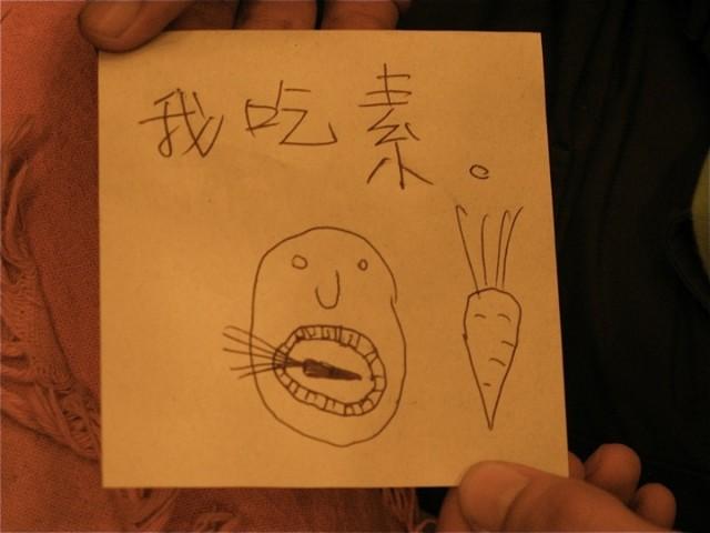 Я вегетарианец (по-китайски)