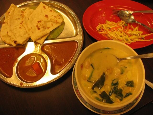 Тайский супчик с индийскими нанами