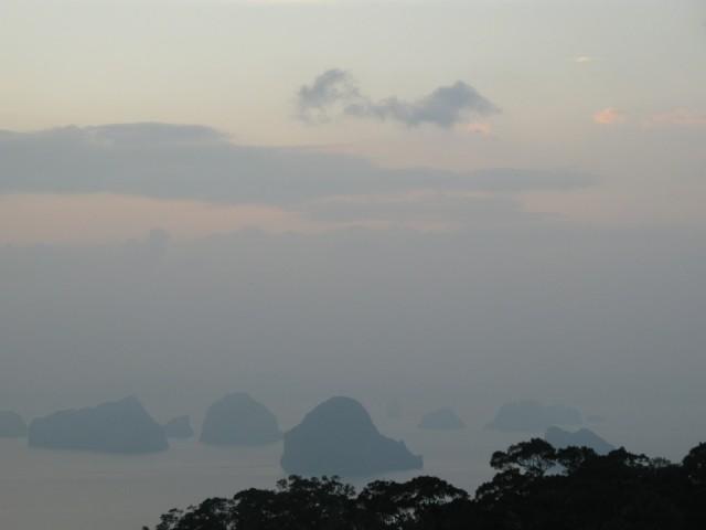 Вид на острова со смотровой площадки
