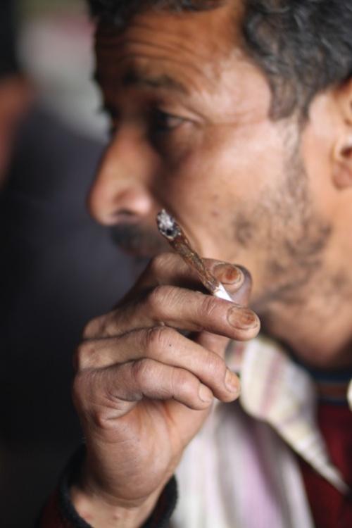 Smoking shepherd. made by Buruchina