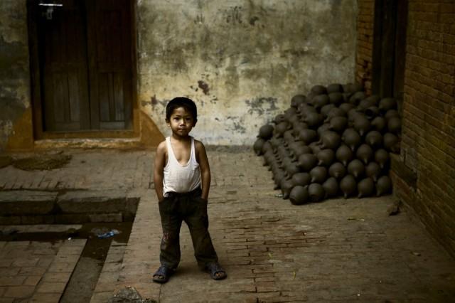Непал. Бахтапур. Дворик мастерской по изготовлению керамики. 2009 г.