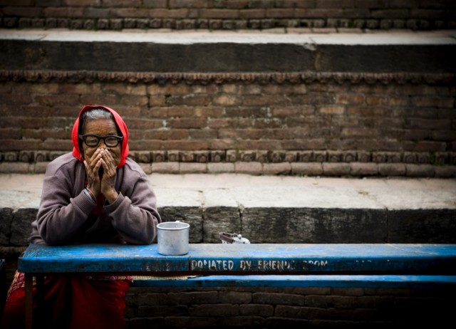 """Непал. Катманду. Дом престарелых. """"Свет. Молчание."""" 2009 г."""