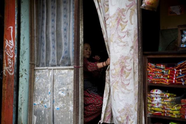 """Непал. Катманду. Из серии: """"Жизнь  города."""" 2009 г."""