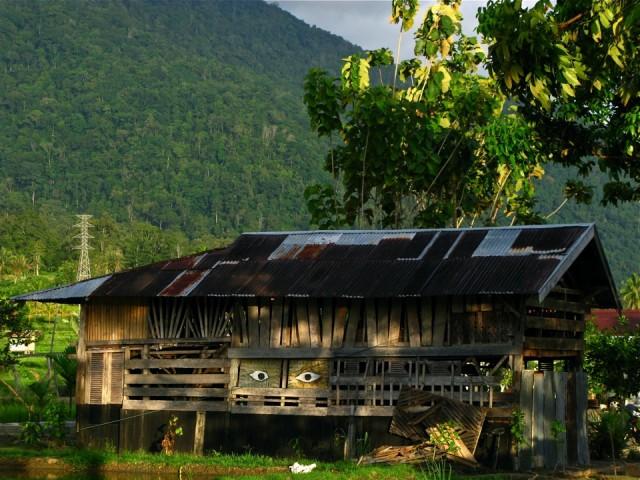 Глазастый домик в деревне Баюр