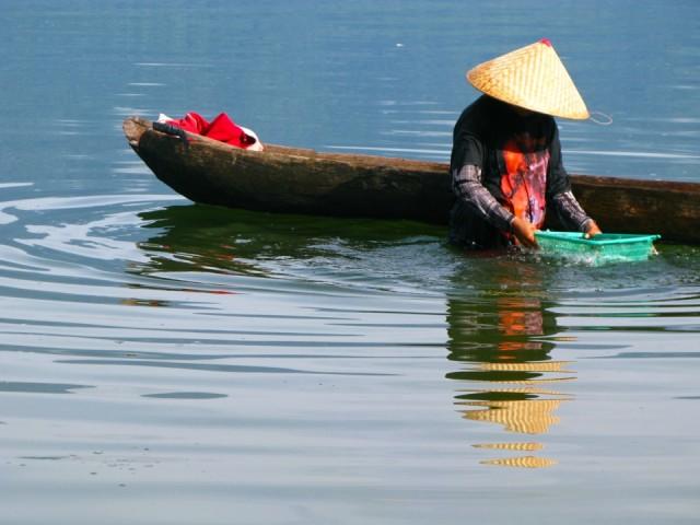 Утро на озере Манинджау