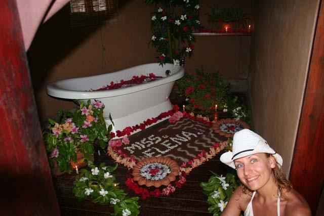 flower bath as a last treatment