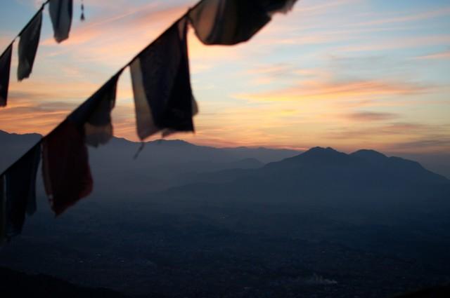 Закат над долиной Катманду