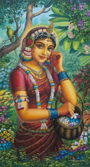 Радха в саду