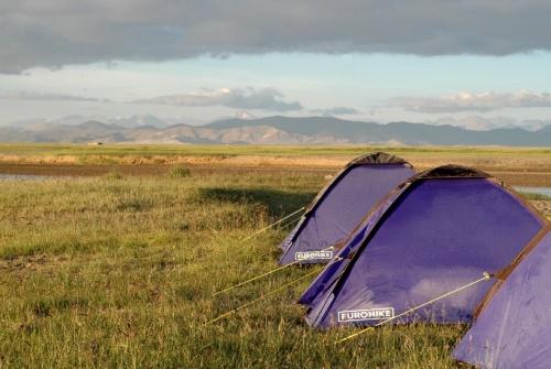 Утро - на палатке изморозь (минус был), а днем снова плюс 20 градусов!