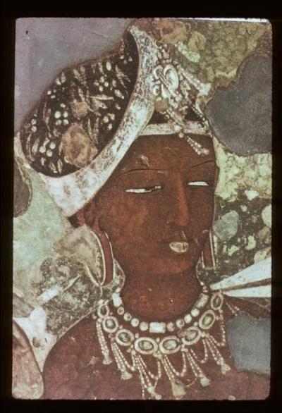 Апсара Аджанты, очень известная фреска