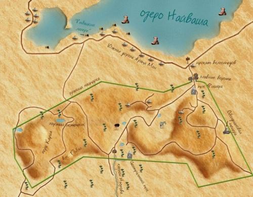 Вот, нарисовал примерную карту местности