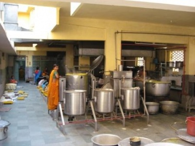 кухня Шантикунджа.