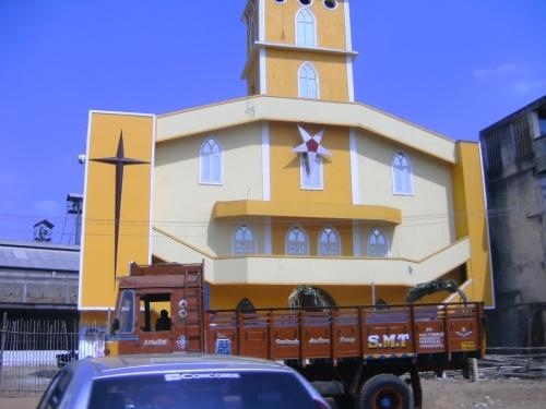 Церковь с перевернутой пентаграммой.