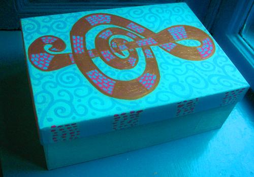 роспись коробки