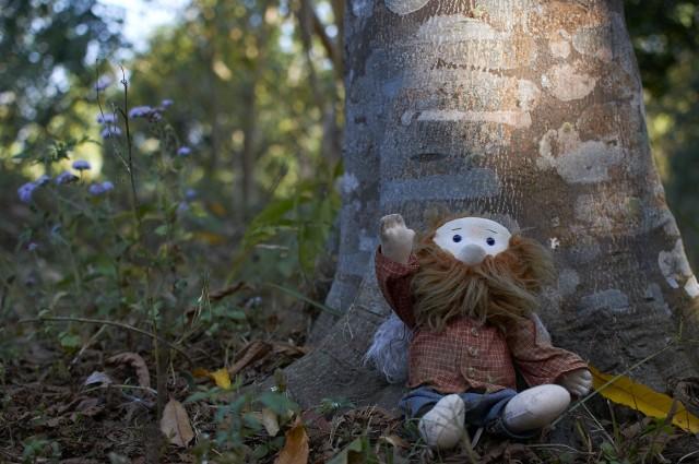 Афанасич под деревом рудракша
