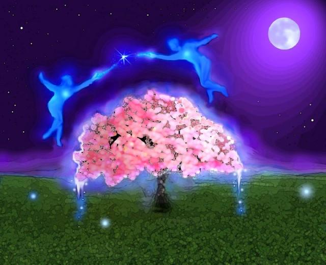 танец  вокруг   вишни  ...
