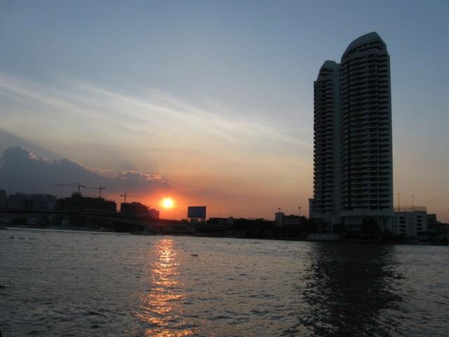Бангкок. Закат.