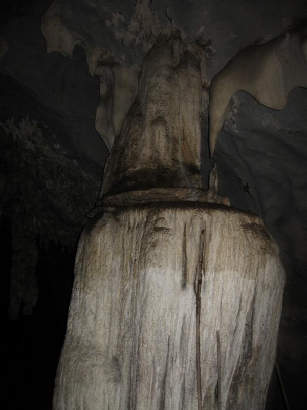 В пещере.