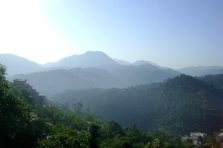 Вид на горы из монастыря
