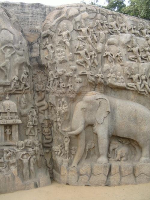 Мамалапурам. Каменный комикс по Махабхарате