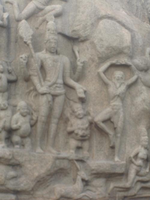 Все тот же комикс: Шива дает Арджуне оружие