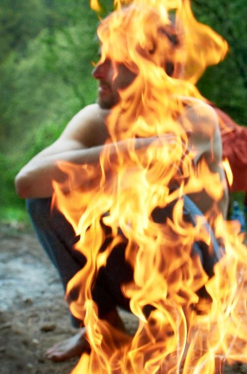 Митя Соколов в огненном столбе