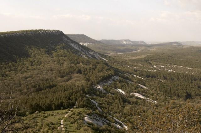 Вид с вершины плато