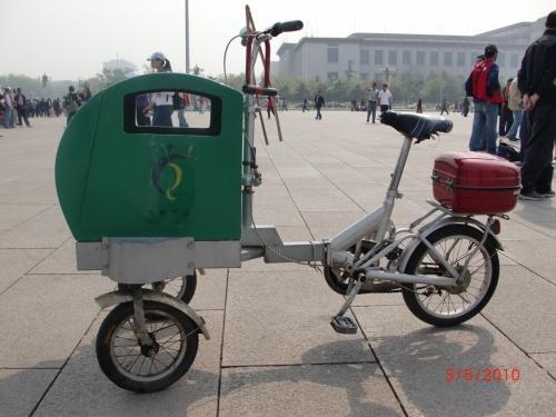 Мусорка на площади Пекина
