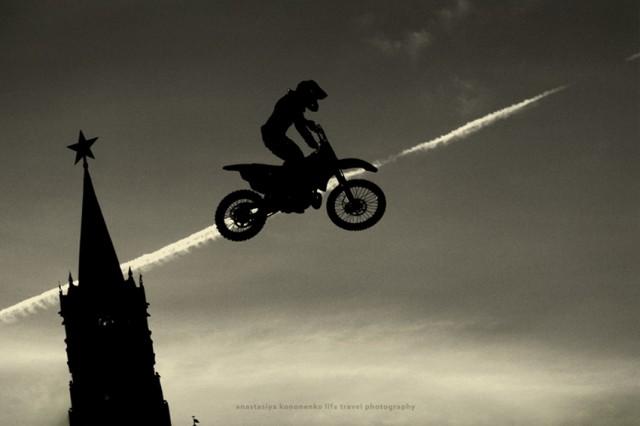 Red Biker's Flying.